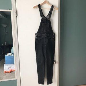 Levi's black denim overalls xxs